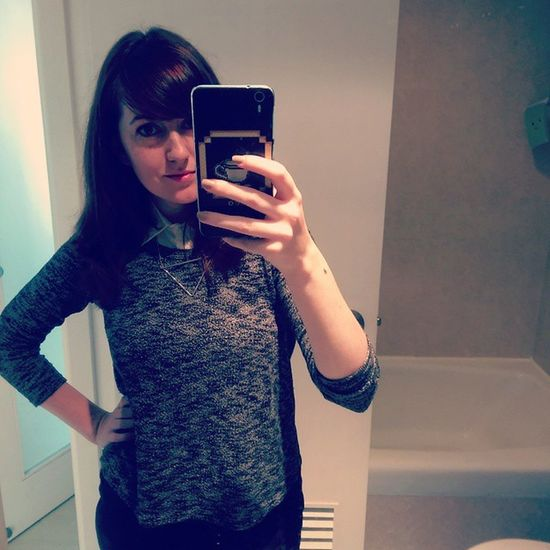 Enjoying my Preuniform days Work uniform Ootd Selfie Mirrorpicture