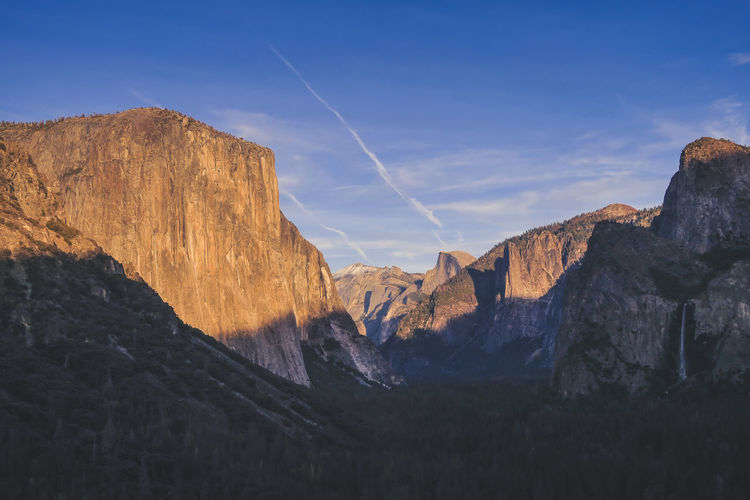 Panoramic view of yosemite  mountains against sky