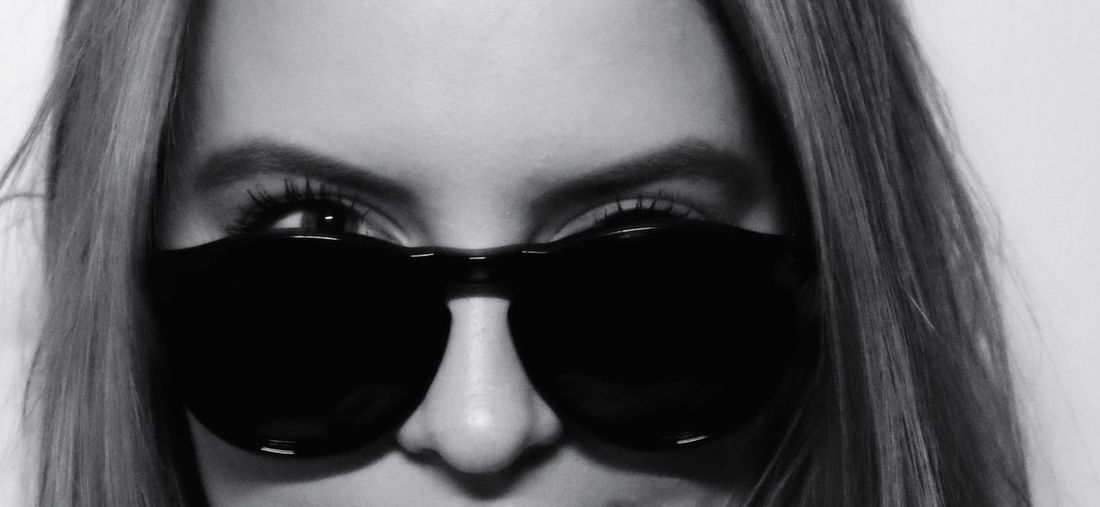 Look over sunglasses Cute Look Over Sunglasses Canon Eos 200d Black And White Morten Müller-Schnelle One Person Portrait Human Body Part Close-up Looking At Camera Human Face Women Indoors  Headshot Young Adult Beautiful Woman Beauty Fashion Young Women