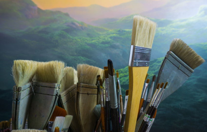 Architecture Brush Colors Hand Hanging Out Image Nature Paint Paintbrush Painting Painting Light Painting Mountain Painting The Sun Photography Picture