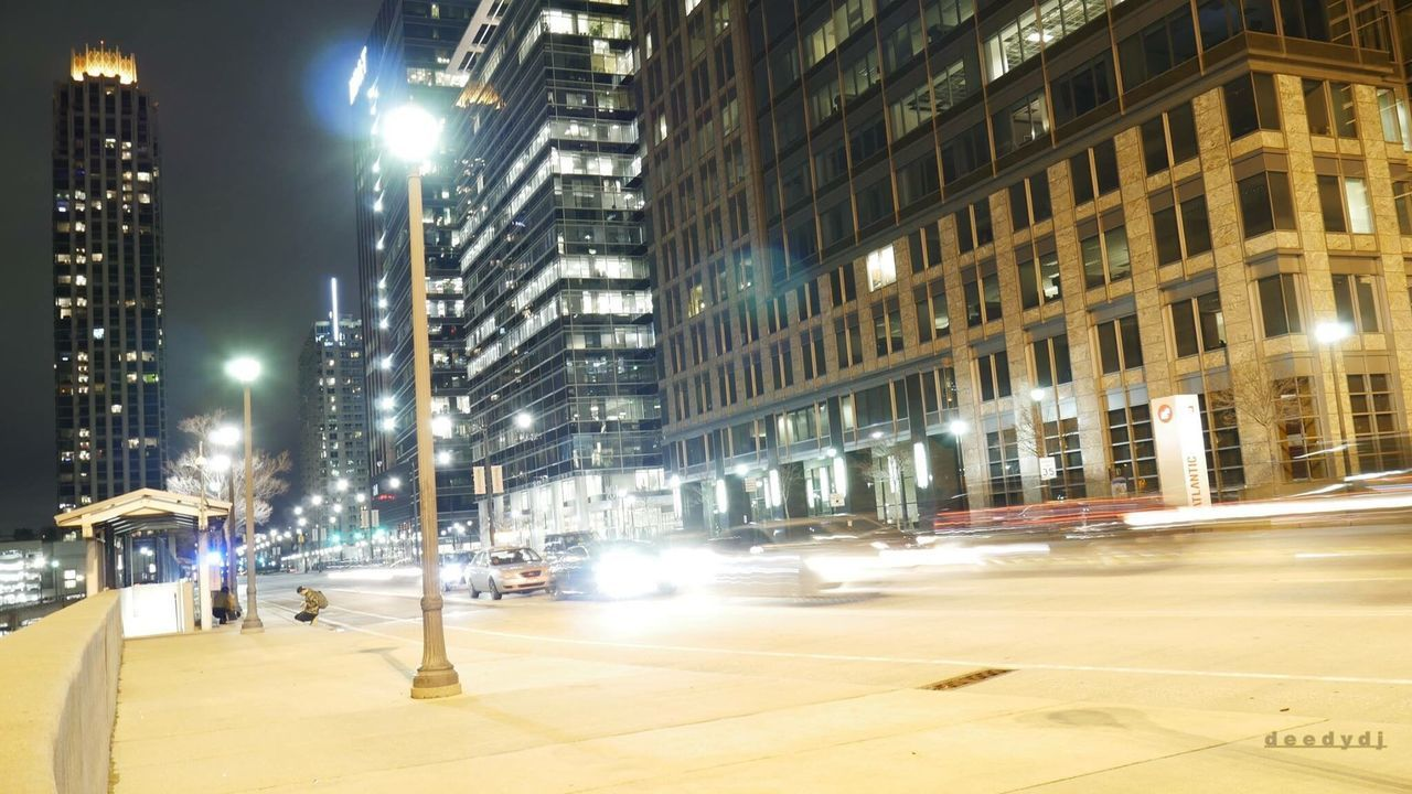 illuminated, night, architecture, street, city, building exterior, outdoors, no people