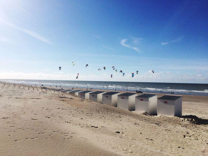 Scenic view of sea in belgium