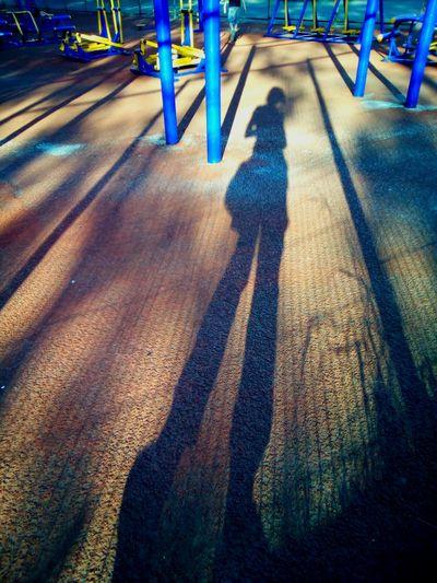Shadow woman Shadow Shadows Girl Woman Female Silhouette Evening Light Evening Shadow Long City Training Station