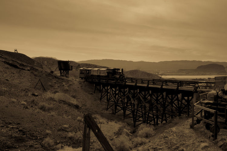 Far West Calico Train Bridge - Man Made Structure Miners Vintage Old Town Gold Miners