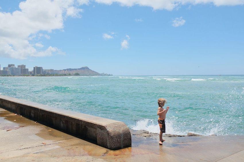 Sunday Sea Water Beach Leisure Activity Summer Nature Hawaii Life Beach Life Alohastate Stoked Vacations Travel Destinations Diamondhead Oahu Beaches Oahuphotography EyeEm Selects Fujifilm_xseries Fujifilm Clouds And Sky Scenics Fujixclub Sunny Day SundayFunday Lifeisgood Blue Sky