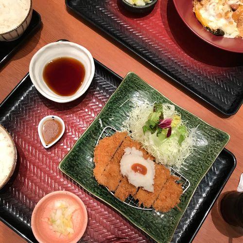 🍙 Japan Japanese Food Tonkatsu とんかつ Ootoya Dinner Eating Pork Set Fries