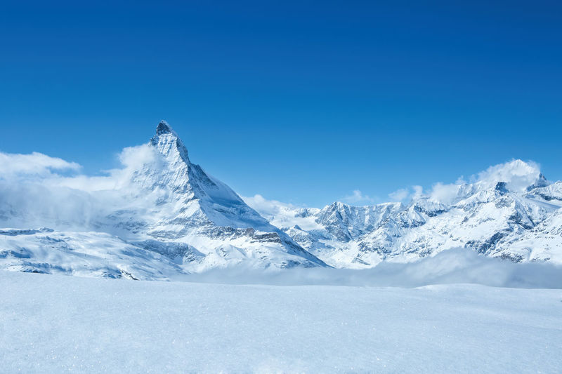 Holiday Matterhorn  Matterhorn Zermatt Suisse  Travel Beauty In Nature Blue Cold Temperature Day Landscape Mountain Mountain Range Nature No People Outdoors Scenics Sky Snow Snowcapped Mountain Tranquil Scene Tranquility Travel Destinations White Color Winter