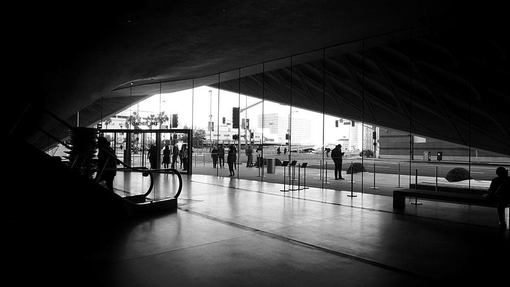 Black And White Blackandwhite Photography Black & White Light And Dark Light And Darkness  People People Watching The Broad Architecture The Broad Museum
