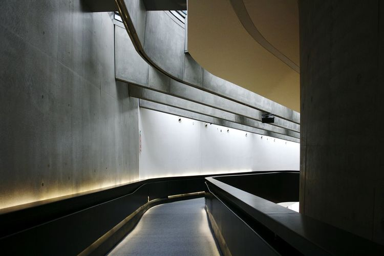 Architecture Bridge - Man Made Structure Built Structure Curve No People Illuminated Indoors  City Modern Futuristic Adult People Maxxi Museum MAXXI Roma MAXXI Art Rome MAXXI Museum Rome Italy Indoors