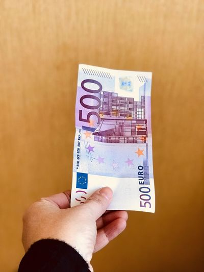 Cash Currency Euro Money Human Hand Human Body Part Paper Currency Holding Finance One Person Currency Real People Human Finger Indoors  Close-up Savings Women Day People
