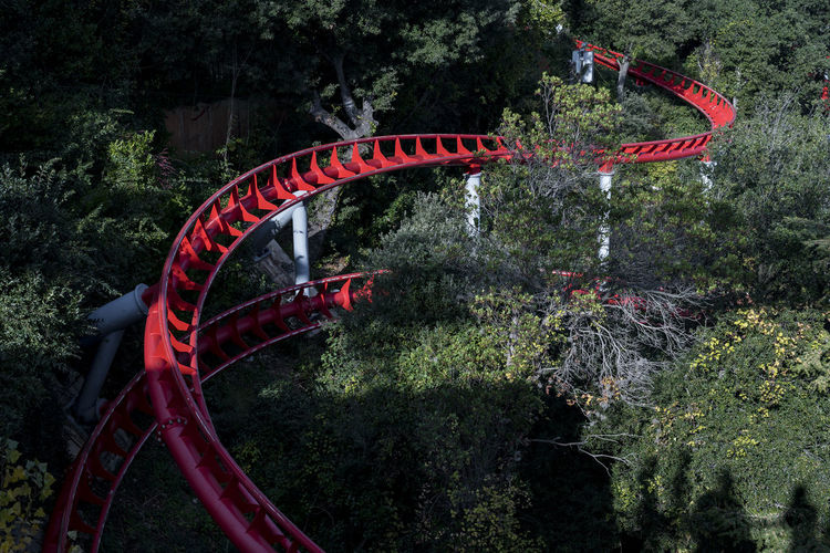 rounded Barcelona Red Rollercoaster SPAIN Shades Of Winter The Graphic City Amusement Park Day Outdoors Rounded Tibidabo