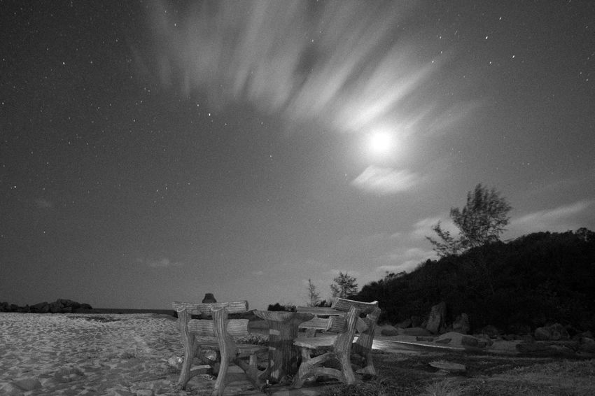 Astronomy Beach Beauty In Nature Bench Blackandwhite Galaxy Giantrocks Loneliness Long Exposure Milkyway Monochrome Nature Night Nightphotography Outdoors Scenics Sea And Sky Sky Solitude Star - Space Star Field Tourism Tourist Attraction  Tourist Destination Travel Destinations
