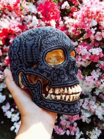Flowers Huicholart Huichol Craft Skull Plant Art And Craft Nature Lifestyles