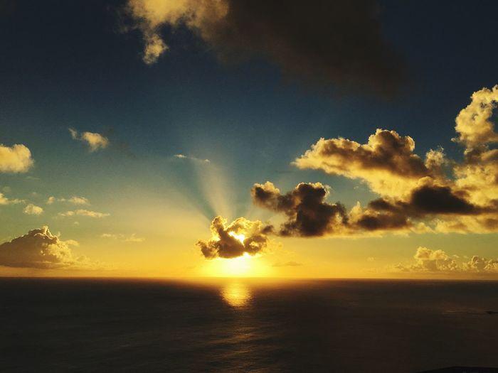 Sunset Sea Sky Beauty In Nature Horizon Over Water Ogasawara Tokyo Island On The Ship
