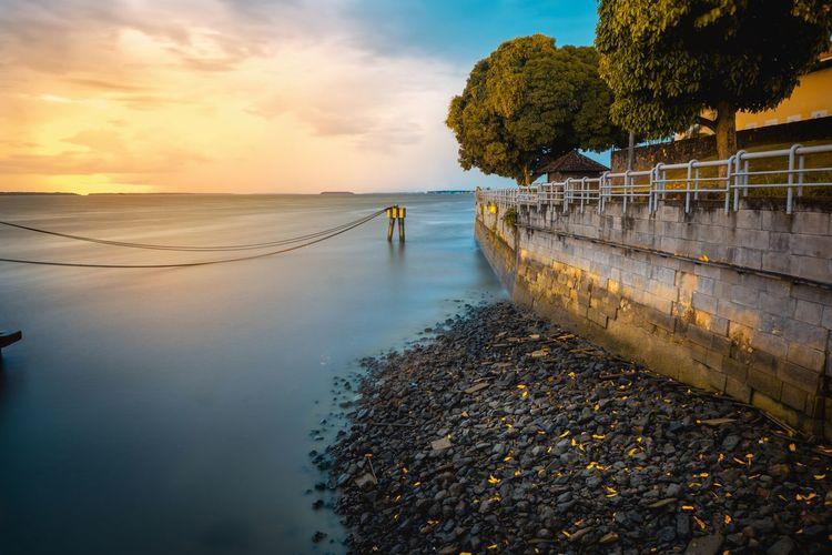 Tree Water Sea Sunset Beach Nautical Vessel Low Tide Swimming Sand Reflection Coast Panoramic Calm Horizon Over Water