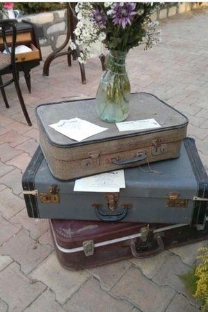 Suitcase Theme Wedding Decoration VintageOutdoors Summer Day