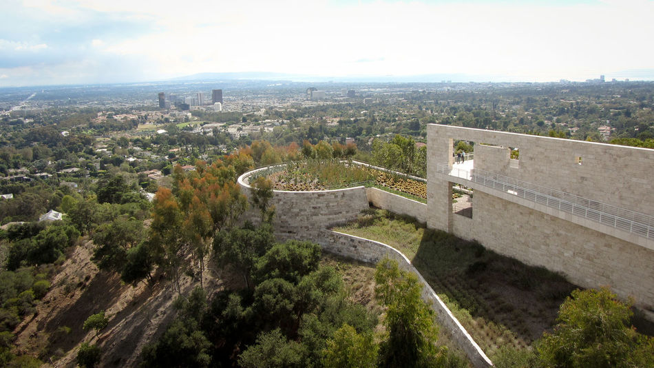 80ties Architecture California Getty Getty Museum Los Angeles, California Losangeles Outdoors