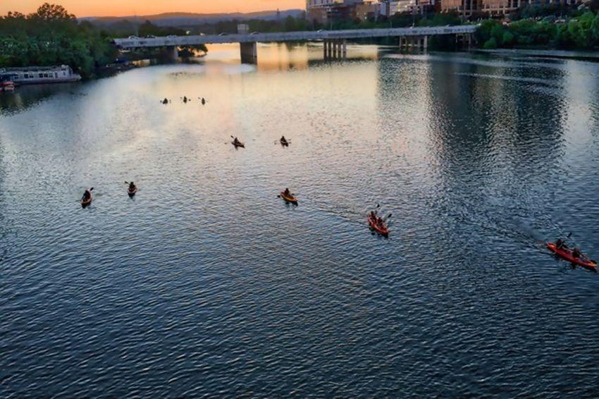 On The Lake. Austin Texas Streetphotography Urbanphotography Texas Landscape_photography Sunrise_sunsets_aroundworld Canoeing Canoe Paddling Canoe Lake