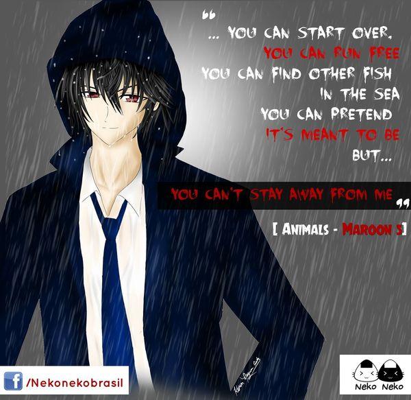 """""""Just like animals, animals , animal- mals..."""" Anime Original Characters Rain Anime Boy Neko Neko Animals Maroon5 Drawing Draw Yandere"""