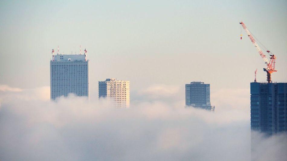 Skyscraper Sky Cloud - Sky Fog City Office Building Tower Construction Work Unrealistic The Architect - 2017 EyeEm Awards