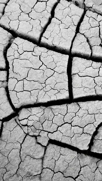 Nature Textures Textures And Surfaces Cracks In The Earth Black & White