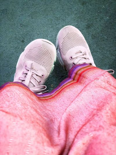 Waiting in pink