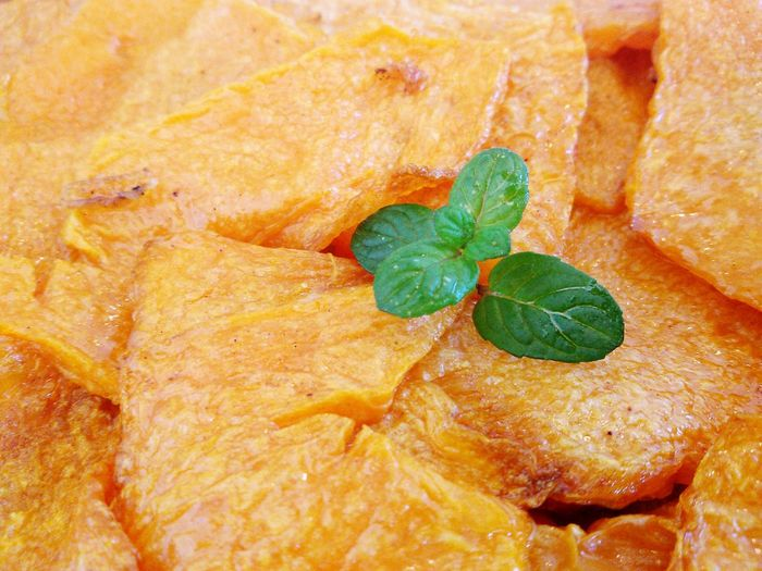 Close-Up Of Fried Pumpkin