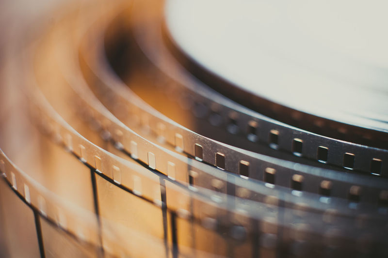 Close-Up Of Film Reel