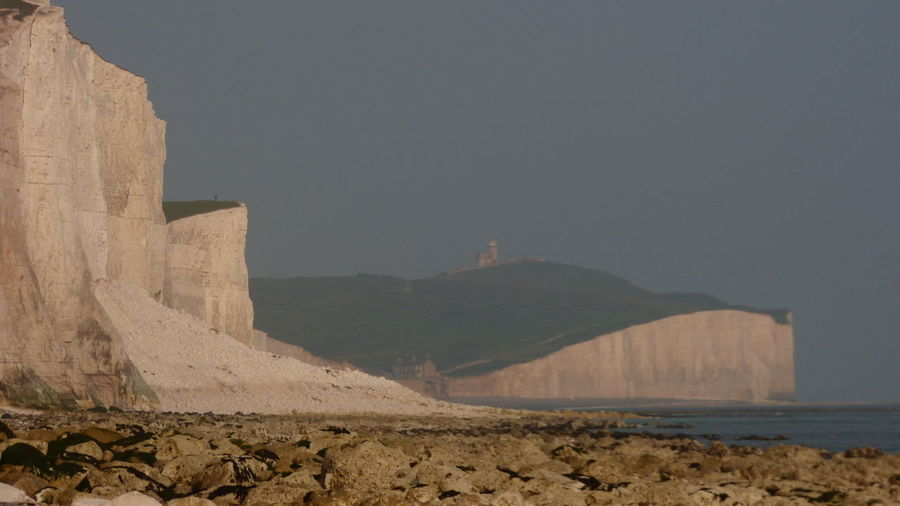 Collapsed Cliff at the Seven Sisters Chalk Cliffs Collapse Day Geology Landscape Lighthouse Nature No People Non Urban Scene Non-urban Scene Outdoors Rock Formation Scenics Seven Sisters Sky White Cliffs