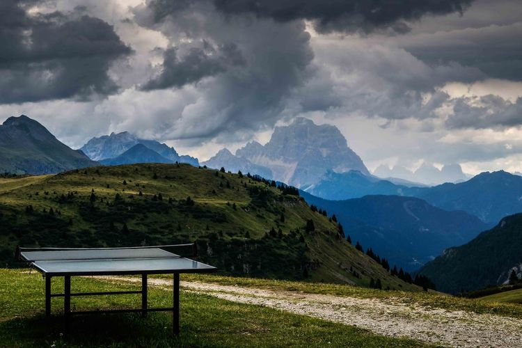 Arabba Passo Campolongo Trentino Alto Adige Cloud - Sky Corvara In Val Badia Gray Clouds Mountain Storm Cloud Table Tennis
