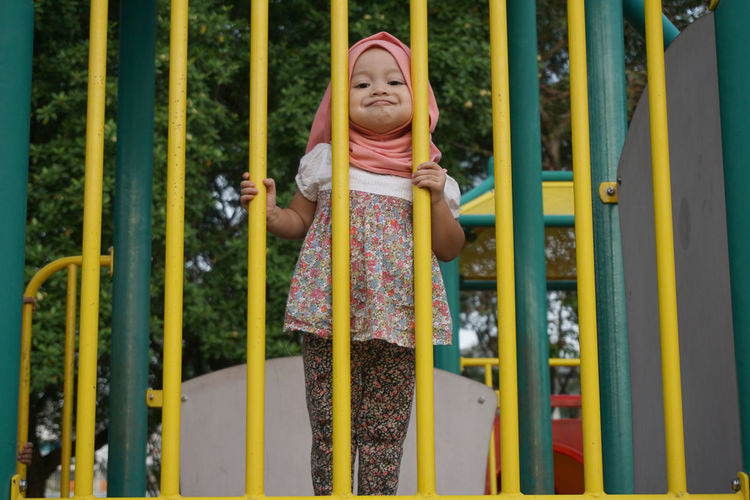 Childhood Cute Day Front View Human Representation In Front Of Innocence Person Smiling Muslimgirl Muslimahtoday Muslim Child