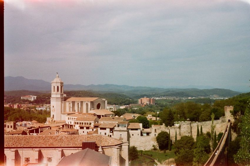 35mm Film Church Girona OldTowm Wall Architecture Building Exterior Built Structure History Mountain No People Outdoors Tower Travel Destinations Treavelling Mobility In Mega Cities Colour Your Horizn