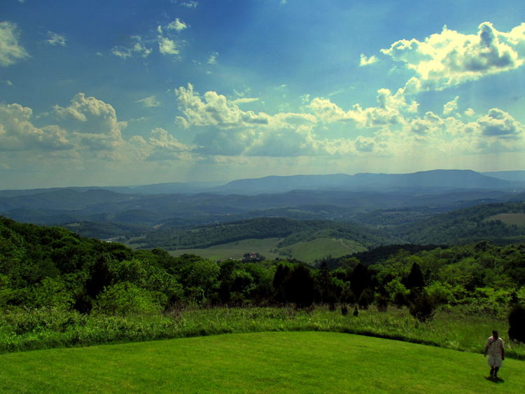 Beauty In Nature Blue Ridge Mountains Cloud - Sky Landscape Nature New River Valle Scenics Sky Virginia