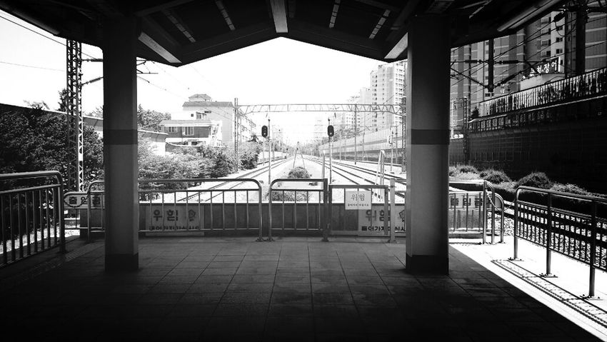 South Korea Trains & Railroad Balck And White