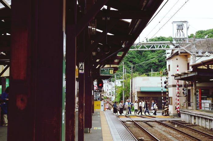 Holiday POV Pentax K-50 Kamakura 長谷寺 江ノ電 Enoden Train Station Public Transportation May