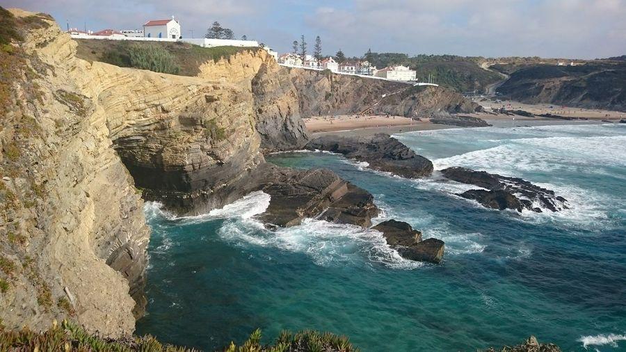 West Coast Portugal Water Sea Beach Sand Sky