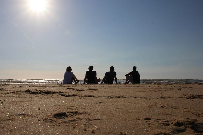 People sitting on beach