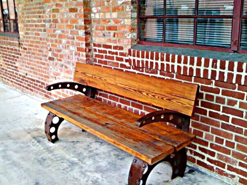 Americantobaccocampus Reclaimedwood Bench Seat Recycled Revitalized DowntownDurham Architecture