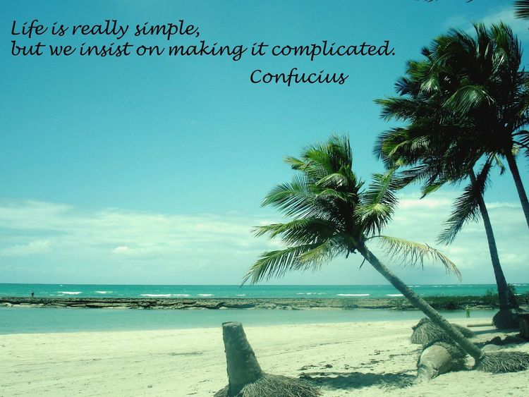 Life is really simple, but we insist on making it complicated. Praia de Carneiros, Pernambuco, Brasil Qualquer Lugar Relaxing Life Is A Beach Traveling Travel Enjoying Life Beautiful Nature Praia Dos Carneiros Quoteoftheday