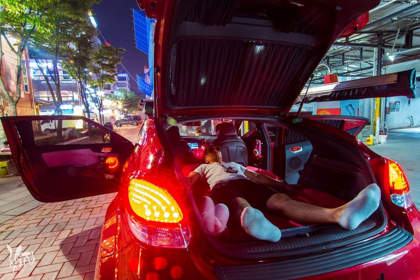 Car Transportation One Person Adults Only Illuminated People Adult Only Men Outdoors One Man Only City Men Night Human Body Part