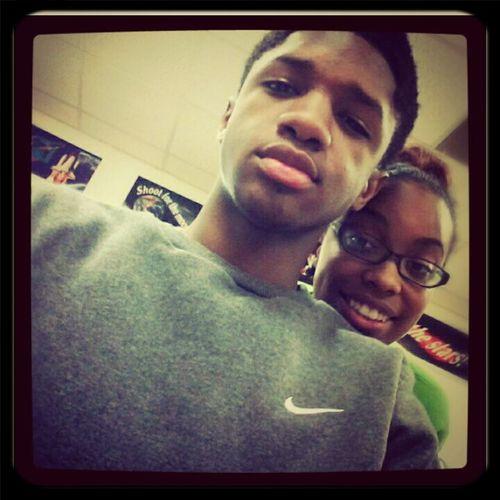 Me And Big Bro Tj Earlier :) #repost