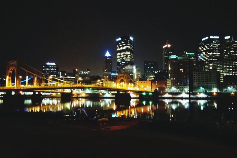🌆 Cityscapes Skyline Pittsburgh Downtown Pittsburgh Pittsburgh Life Bridges Taking Photos Hanging Out 43 Golden Moments Gold Bridge