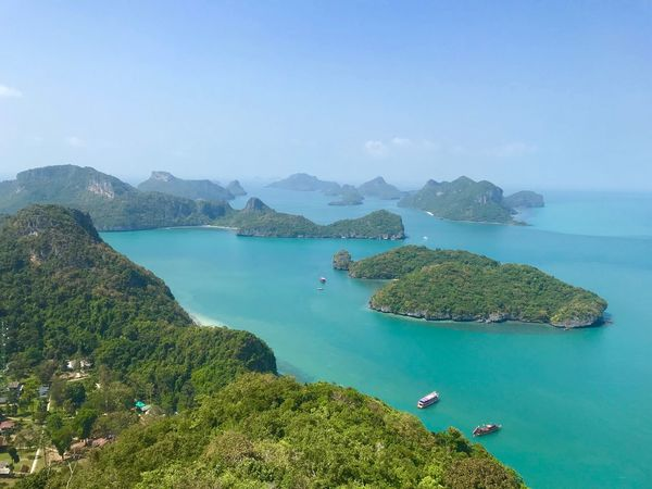 Angthong Islands, Thailand Travel Travel Destinations Island Water Sea Scenics - Nature Beauty In Nature Sky Nature High Angle View Day