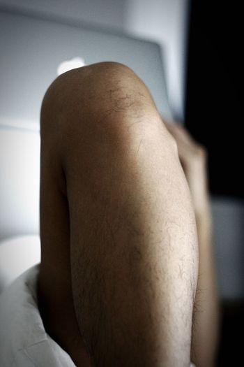 Leg Man Man's Legs Knee Laptop Apple Laptop Leg Hair