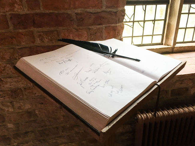 Ter Apel monastery. on a brief visit Ancient Guest Book  Monastery Old-fashioned Writing Close-up Communication Day Feather  Indoors  Light And Shadow No People Paper Signature