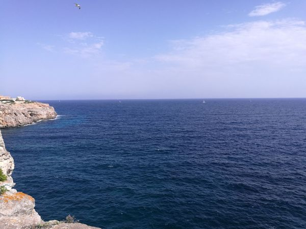 Sea Horizon Over Water Beach Water Nature Outdoors Tranquility Scenics Tranquil Scene Vacations No People Travel Destinations Day Beauty In Nature Sky SPAIN Mallorca HuaweiP9 Nofilter Noedit