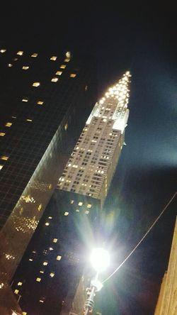 ChryslerBuilding Night Time