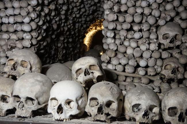 Bones Church Death Gothic History Human Bone Skull Tschechien Travel Tourism Travel Destinations Light