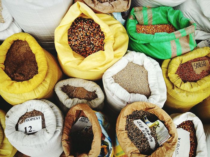 Check This Out Grains Bags Farmers Market Sell View From Above Summer Samsungphotography EyeEm Gallery Outdoors Light And Shadow The Week Of Eyeem The Week On Eyem