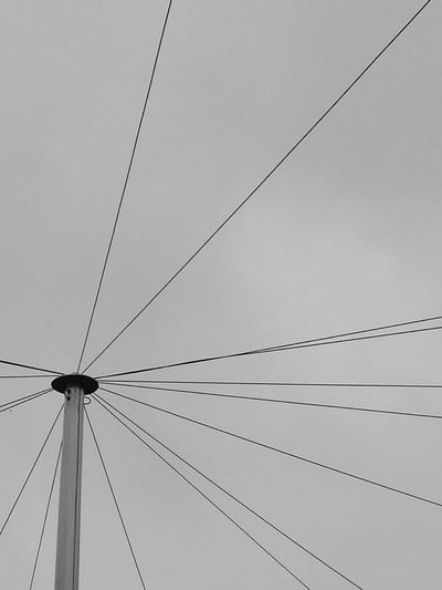 Black And White Lines Geometry Cables Wires Phone Lines Overhead Cable Distribution Point Local Network Sky